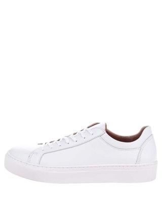 Biele kožené tenisky Selected Femme Donna