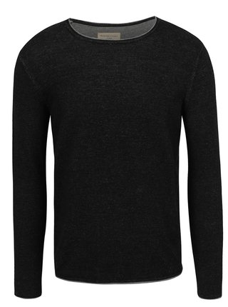 Bluza gri melanj inchis Selected Homme Klop din bumbac