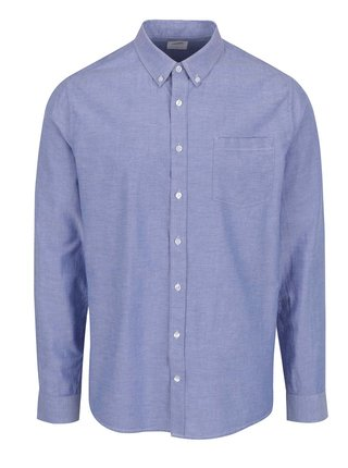 Camasa bleu cu guler buttons-down Burton Menswear London