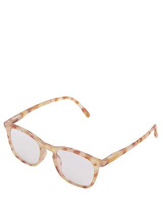 Hnedo-žlté vzorované unisex ochranné okuliare k PC IZIPIZI #E