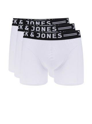 Sada tří bílých boxerek Jack & Jones Sense