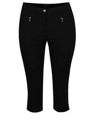 Čierne skrátené nohavice Ulla Popken
