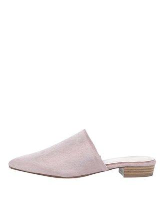 Růžové sametové pantofle Tamaris
