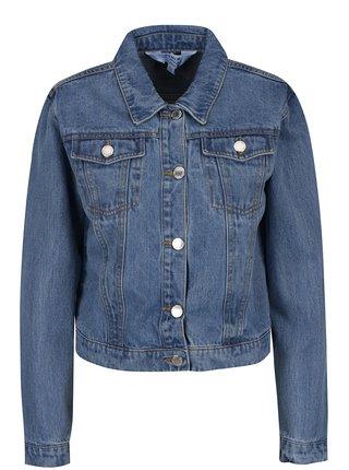 Jacheta albastra crop din denim Miss Selfridge