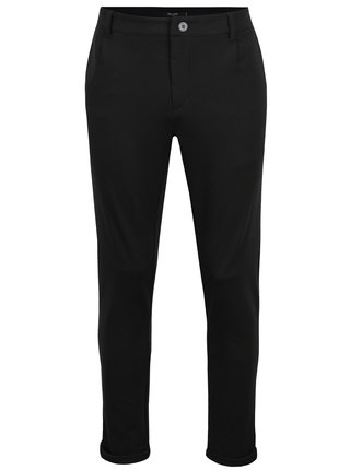 Pantaloni chino negri ONLY & SONS Solid
