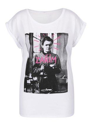 Bílé dámské volné tričko ZOOT Originál Zářím