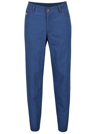 Modré pánské lněné kalhoty BUSHMAN Warren