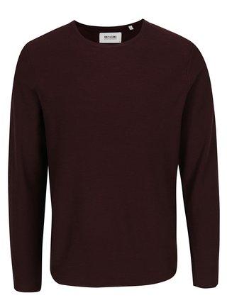 Vínový tenký sveter ONLY & SONS Paldin