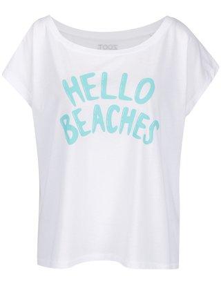 Bílé dámské tričko ZOOT Hello beaches