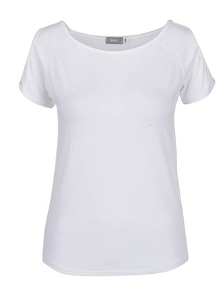 Bílé tričko s průstřihy na ramenou ZOOT