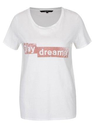 Krémové tričko so zamatovým detailom VERO MODA Aiyo