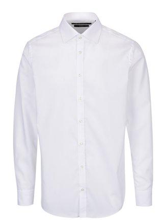 Biela pánska formálna  slim fit košeľa STEVULA