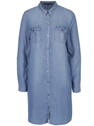 Svetlomodré rifľové košeľové šaty VERO MODA Silla