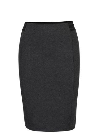 Tmavosivá puzdrová sukňa s pružným pásom VERO MODA Storm