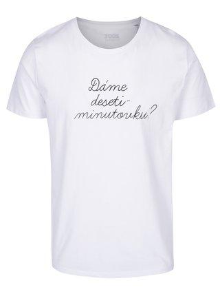 Bílé pánské tričko ZOOT Originál Dáme desetiminutovku?
