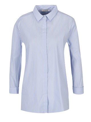 Camasa cu dungi alb & albastru si nasturi pe spate  - Rich & Royal