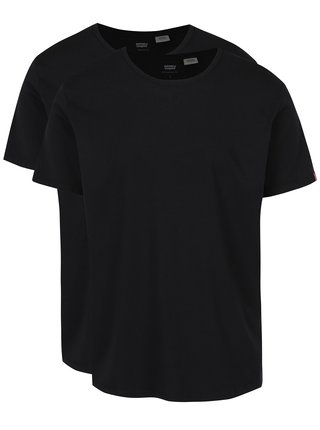 Sada dvou černých basic triček s kulatým výstřihem Levi's®