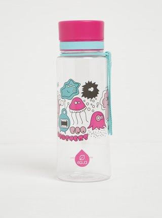 Modro-ružová plastová fľaša s motívom príšeriek EQUA (600 ml)