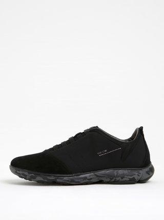 Pantofi sport negri din piele intoarsa Geox Nebula F