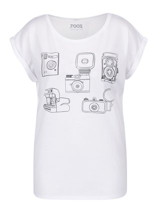 Bílé dámské tričko s potiskem ZOOT Original Foťáky