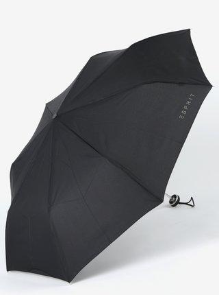 Umbrela neagra telescopica cu logo pentru femei - Esprit