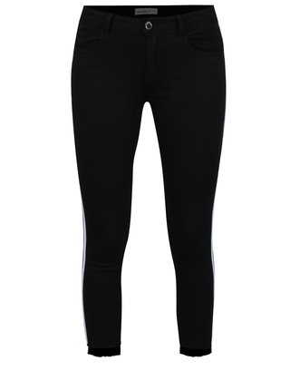 Čierne nohavice s bielymi pruhmi Haily's Two