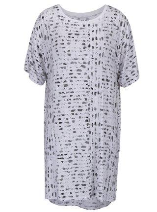 Biela vzorovaná nočná košeľa s nepravidelným hadím vzorom DKNY