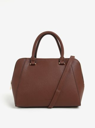 Hnedá kabelka so zipsmi v zlatej farbe Esoria Polines