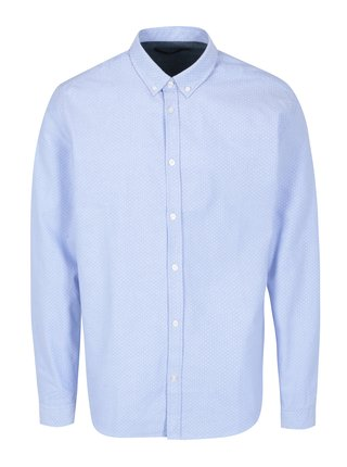 Svetlomodrá vzorovaná košeľa SUIT Oxford Dot