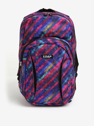 af606c0f42 Fialový dámsky vzorovaný batoh LOAP Asso 20 l