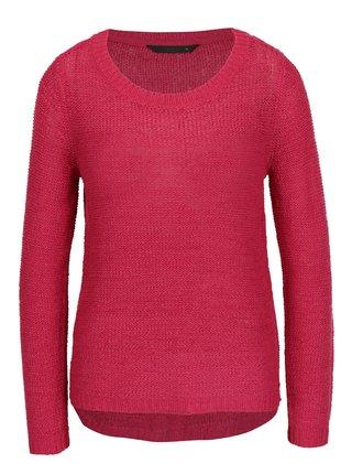 Tmavoružový pletený sveter ONLY Geena