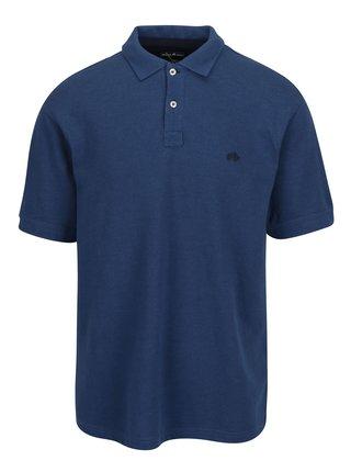 Modré polo tričko s výšivkou loga Raging Bull