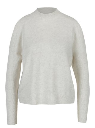 Krémový žíhaný svetr s průstřihy na ramenou Miss Selfridge