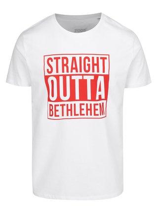 Tricoul alb pentru barbati - ZOOT Original Straight Outta Betlehem