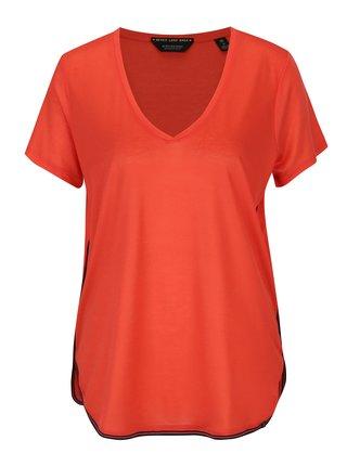 Červené basic tričko s pruhem na bocích Scotch & Soda