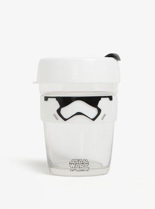 Dizajnový cestovný sklenený hrnček s motívmi Star Wars KeepCup Stormtrooper Brew Medium