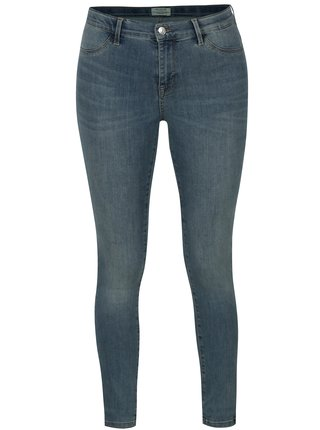 Svetlomodré jeggings s vyšúchaným efektom Selected Femme Gaia