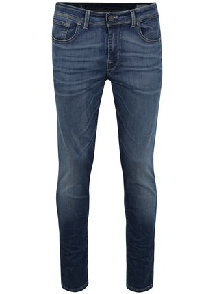 Blugi slim fit bleumarin cu aspect prespalat - Selected Homme Leon