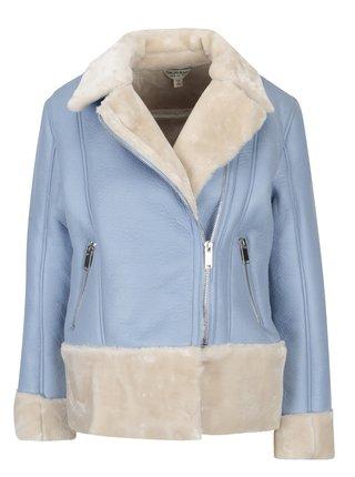 Světle modrý křivák s umělým kožíškem Miss Selfridge