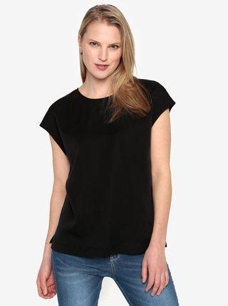 Bluza neagra cu maneci scurte Selected Femme Zoe
