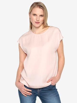 Bluza roz pal cu maneci scurte Selected Femme Zoe
