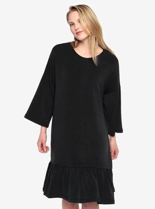 Černé šaty s volánem Selected Femme Liva