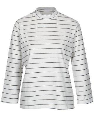 Černo-bílé pruhované tričko se stojáčkem Jacqueline de Yong Gana