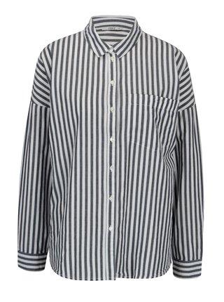 Krémovo-modrá pruhovaná košile ONLY Joline