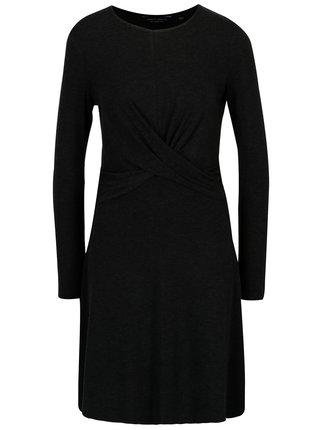 Tmavosivé šaty s dlhým rukávom Dorothy Perkins