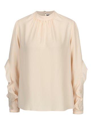 Bluza roz pal cu dantela si volane Dorothy Perkins