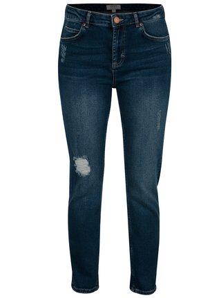 Tmavě modré slim džíny s potrhaným efektem Dorothy Perkins