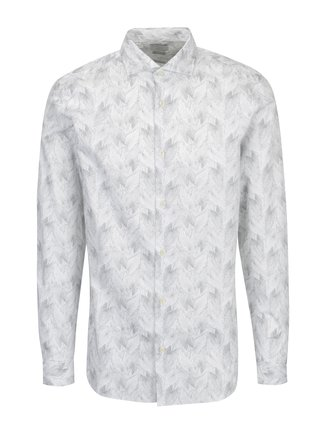 Camasa alba regular fit cu print - Selected Homme Two Sel