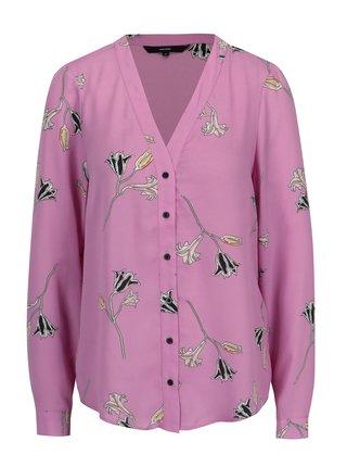 Bluza roz cu print floral VERO MODA Elena