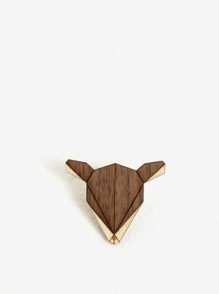 Brosa din lemn in forma de caprioara - BeWooden Deer Brooch